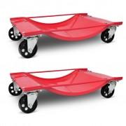 vidaXL Vozík pro manipulaci s vozidlem 2 ks
