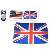 Plaid in Pile Fantasie Bandiera USA e UK - Union Jack o Stars & Stripes