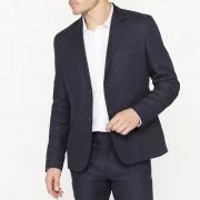 R essentiel Пиджак костюмный узкого покроя из смесовой ткани из льна