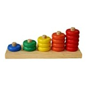 Toys of Wood Oxford Wooden Counting Game - Stacking Rings Stack and Count