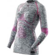 X-Bionic Accumulator Evo Melange Bielizna rowerowa Kobiety szary/różowy L/XL Bluzki z długim rękawem