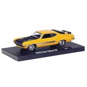 Ford Torino GT, yellow/matt black , 1970, Model Car, Ready-made, M2 Machines 1:64