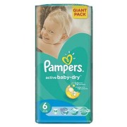 Pampers Active Baby 6 - 56 bucati