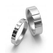 Snubní ocelové prsteny ZERO Collection rz04009+rz86009
