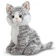 Детска плюшена играчка - Сиво коте - 17525 - Melissa and Doug, 000772175258