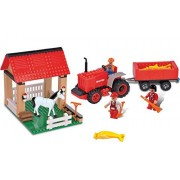 Brictek Farm Set With Tractor 5 In 1 293pcs Building Blocks (Compatible With Legos) With Brick Remover