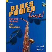 Schott-Verlag - Blues Power live! Altsaxophon Dechert, Buch und Playalong CD