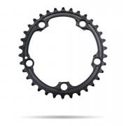 AbsoluteBLACK 110BCD SRAM 5 Bolt Spider Mount Oval Chain Ring (Premium) - Inner Ring - 34T - Black