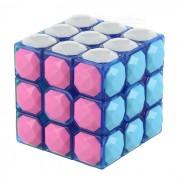 3x3x3 Diamonds Design Educational Magic Rubik's Cube Puzzle Toy - Blue + Pink + Multi-Color