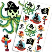 Peaceable Kingdom / Ahoy, Pirates! Temporary Tattoos