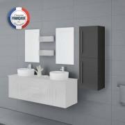Distribain Meuble colonne COL747GT salle de bain gris taupe