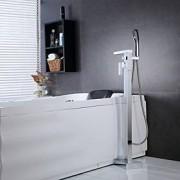 LightInTheBox Contemporain Montée au sol Cascade / Douchette inclue / Position sur plancher with Valve en cérami