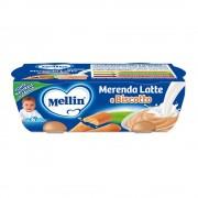 Mellin Merende Latte - Merenda Latte Biscotto - Confezione da 260 g ℮ (2 vasetti x 130 g)