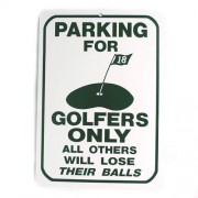 San Diego Gifts Parking For Golfers Only Plastic Parking Signs【ゴルフ その他のアクセサリー>ホーム/オフィス】