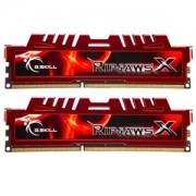 Memorie G.Skill RipJawsX 8GB (2x4GB) DDR3 PC3-14900 CL9 1.5V 1866MHz Intel Z97 Ready Dual Channel Kit, F3-14900CL9D-8GBXL