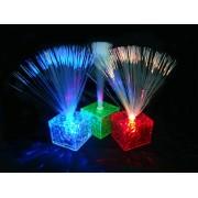Mini Lampada a Fibre ottiche con base a Cubo