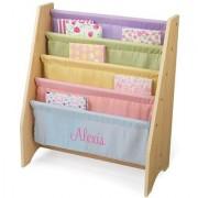 KidKraft Personalized Pastel Sling Bookshelf with Pink Script - Alexis