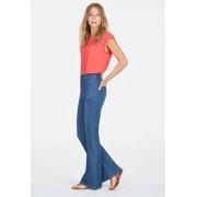 JustFab Jeans évasés Button Front High Waisted Jeans évasés Femme Couleur Bleu Taille 27 JustFab