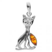 InCollections 0010200410890 - Pendente da donna con ambra, argento sterling 925