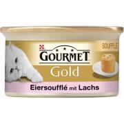 Gourmet Gold Eiersoufflé mit Lachs Nassfutter 85 g-Dose