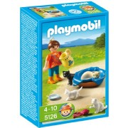 Playmobil Girl with Cat Family