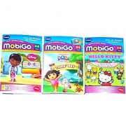 VTech - Mobigo Learning Game - Pack of 3 Games : Dora The Explorer Hello Kitty & Doc McStuffing - Value Pack