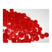 Lego Building Accessories 1 X 1 Transparent Red Round Brick Plate, Bulk - 100 Pieces Per Package