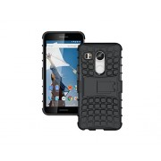 Quicksand Nexus 5X Cover, Defender 2 Rugged Armor Shock Proof Neo Hybrid Dual Layer Back Cover for Google Nexus 5X - Black