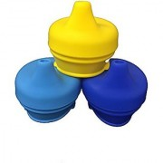 Snug Silicone Sippy Lids boys colors BLUE YELLOW LIGHT BLUE by B.N.D make any cup sippy cup! silicone baby product baby NO SPILL its a boy sippy cup cover spill proof sippy cup teething relieve