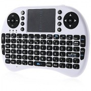 iPazzPort Wireless Mini Keyboard with Touchpad for Android TV Box and Raspberry Pi 3 and HTPC KP-810-21S Black (KP-810-21-White)