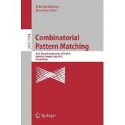 Combinatorial Pattern Matching by Juha Karkkainen