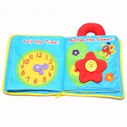 Gotovang Cute Newborn Multifunctional Stereoscopic Flower Soft Cloth Book Toy Baby Educational Fabric Books My Quiet Book Rattle Toys