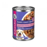 Eukanuba Puppy Mixed Grill Chicken & Beef Dinner in Gravy Formula Canned Dog Food, 12.5-oz, case of 12