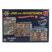 "Jan van Haasteren - Puzzle da collezione 3-in-1 ""Special Edition 30th Anniversary"", 3 x 1000 pz."