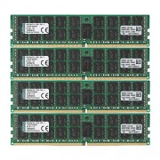Kingston KVR21R15D4K4/64 Memoria RAM da 64 GB, 2133 MHz, DDR4, ECC Reg CL15 DIMM Kit (4x16 GB), 288-pin