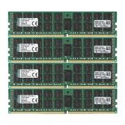 Kingston KVR21R15D4K4/64 Memoria RAM da 64 GB, 2133 MHz, DDR4, ECC Reg CL15 DIMM Kit (4x16 GB), 288-pin