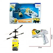 Despicable Me Flying Minions with MUSICAL Gun Shape Remote Controller Induction Control RC Minion Aircraft Flying Minion Hand Induction Control With LED Light Gravity Sensor Toy Rechargeable Minion BEST GIFT