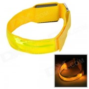 Outdoor Sports Safety LED Flashing Arm Band - Yellow