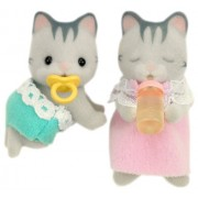 Twins of Sylvanian Families doll grayish cat gray Irish family cat (japan import)