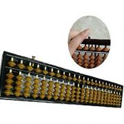 SPJ: 23 Digit Plastic Standard Soroban Reset Button Abacus 13.70 Arithmetic Mathematic Calculating Tool