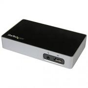StarTech.com Docking Station con DisplayPort per Portatili, USB 3.0, Ultra HD 4K, Nero/Argento