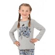 Trigema Mädchen Sweater Größe: 104 Material: 50 % Baumwolle, 50 % Polyester Farbe: grau-melange