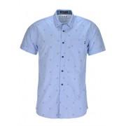 Jack & Jones Beat Shirt Plain Chambray Blue Kortärmad Herrskjorta