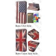 Samsung Galaxy S5 I9600/S5 Neo (калъф кожен) 'Book Flag style'
