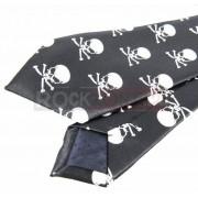 Krawat czarny - CZACHY Z PISZCZELAMI (K-6)