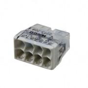 Borne Wago 2273 - 208 8 x0.5 à 2,5mm² Transparent / Gris - lot de 50