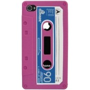Husa Blautel BLTFSRCAP protectie spate iPhone 4/4s silicon Retro (Roz)