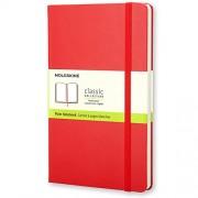 Moleskine Carnet blanc Format de poche Couverture rigide rouge 9 x 14 cm