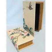 Könyv alakú doboz 2 db (virágos)