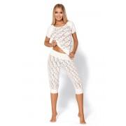 Съблазнителна луксозна пижама Thelma Ecru